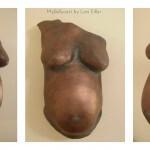 Babybauchabdruck Bronze Effect, Köln Babybauch