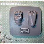 3D Fußabdruck KHandabdruck öln Nrw Babyabdruck Babyfuß Babyhand