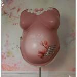 Babybauchabdruck Köln Vintage rosa Magnolien  Belly cast