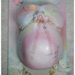 Babybauchabdruck Köln Gipsabdruck rosa Mädchen Schmetterlinge