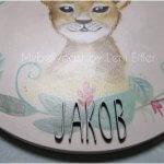 Kinderzimmerbild Löwe Junge Mädchen Babygeschenk Geschenk zur Geburt