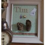Babybauchabdruck, 3D Handabdruck, Fußabdruck, Babyfuß