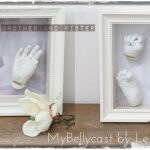 3D Abdruck Baby Babyhand Babyfuß im Rahmen Köln Mybellycast