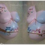 Babybauchabdruck Gipsabdruck Schwangerschaft Köln Nrw Eulen rosa Mädchen