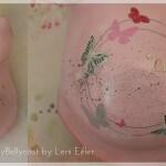 Babybauchabdruck Köln Mädchen rosa Schmetterlinge Sterne  Belly cast