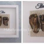 3D Handabdruck Fussabdruck Baby Babyabdruck bronze Köln NRW